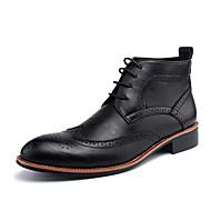 Muškarci Cipele PU Jesen / Zima Udobne cipele Čizme Crn / Bijela / Tamno smeđa