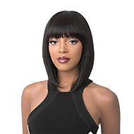 Synthetic Wig Straight Kardashian Style Bob Capless Wig Black Chestnut Brown Brown Red Synthetic Hair Women's Black / Blonde / Brown Wig Medium Length StrongBeauty