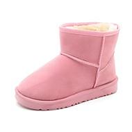 Para Meninas sapatos Camurça Couro Ecológico Inverno Conforto Botas de Neve Curta/Ankle Botas Botas Curtas / Ankle Rendado Para Casual