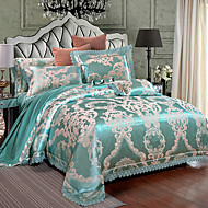 Duvet Cover Sets Luxury 4 Piece Modal Tencel Jacquard Modal Tencel 1pc Duvet Cover 2pcs Shams 1pc Flat Sheet