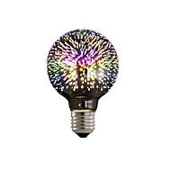 billige Globepærer med LED-1pc 4W 350lm E26 / E27 LED-globepærer G80 28 LED perler Integrert LED 3D fyrverkeri Stjernefull Dekorativ Multi-farger 85-265V
