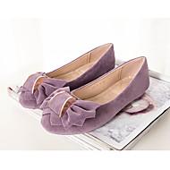 baratos Sapatos Femininos-Mulheres Sapatos Pele Nobuck Primavera / Outono Mocassim Rasos Laço Fúcsia / Rosa claro / Khaki