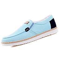 tanie Obuwie męskie-Męskie Buty PU Materiał Wiosna Jesień Comfort Mokasyny i pantofle na Casual Gray Black/Red Light Blue
