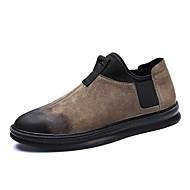 お買い得  メンズオックスフォードシューズ-男性用 靴 ピッグスキン 冬 コンフォートシューズ オックスフォードシューズ ブラック / カーキ色