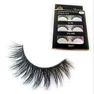 cheap Makeup Tools & Accessories-Eyelashes lash Full Strip Lashes Natural Long Full Strip Lashes Natural Long Natural Handmade Fiber Black Band