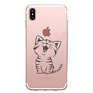 Til iPhone X iPhone 8 iPhone 7 iPhone 7 Plus iPhone 6 Etuier Mønster Bagcover Etui Kat Blødt TPU for Apple iPhone X iPhone 8 Plus iPhone