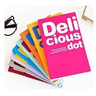 1kpl värikäs herkullinen dot muistikirja karkkia väri kannettava pehmeä notepad päiväkirja kirjan huomata ramdon väri