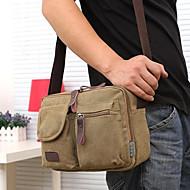 hesapli Çantalar-Erkek Çantalar Tuval Omuz çantası için Günlük Tüm Mevsimler Kahverengi / Yeşil / Haki
