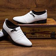 Χαμηλού Κόστους Δερμάτινα παπούτσια-Ανδρικά Τα επίσημα παπούτσια PU Φθινόπωρο / Χειμώνας Ανατομικό / Βρετανικό Oxfords Λευκό / Μαύρο / Πάρτι & Βραδινή Έξοδος / Φόρεμα Παπούτσια
