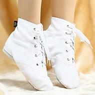 Χαμηλού Κόστους Παπούτσια Χορού-Γυναικεία Παπούτσια τζαζ Πανί Μπότες Κορδόνια Προσαρμοσμένο τακούνι Εξατομικευμένο Παπούτσια Χορού Λευκό / Μαύρο / Κόκκινο / Επίδοση