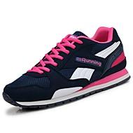 baratos Sapatos Masculinos-Homens Couro Ecológico Outono / Inverno Conforto Tênis Corrida Slogan Azul Escuro / Fúcsia / Azul Claro