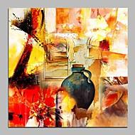 Hånd-malede Abstrakt Kvadrat, Moderne Lærred Hang-Painted Oliemaleri Hjem Dekoration Et Panel