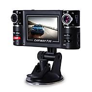 F30 1080p DVR de carro 120 Graus Ângulo amplo 5.0 MP CMOS 2.7inch Dash Cam com Visão Nocturna Gravador de carro