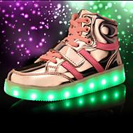 baratos Sapatos de Menino-Para Meninos Sapatos Malha Respirável Primavera / Outono Conforto / Inovador / Tênis com LED Tênis Cadarço / LED para Preto / Vermelho /