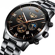 Homens Relógio Elegante Relógio Esqueleto relógio mecânico Japanês Automático - da corda automáticamente Calendário Cronógrafo