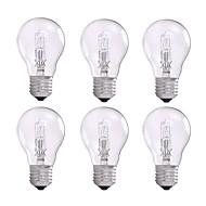 billige Glødelampe-6pcs 42W E26/E27 A55 Varm hvit 2800 K Halogen Pærer AC 220-240 V