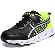 Недорогие -Мальчики обувь Тюль Зима Осень Удобная обувь Спортивная обувь Беговая обувь На липучках для Повседневные Черный Синий Розовый