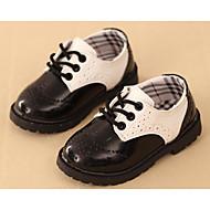 Dječaci Cipele Umjetna koža Proljeće Jesen Udobne cipele Oksfordice Hodanje Vezanje za Kauzalni Crn Crno-bijeli