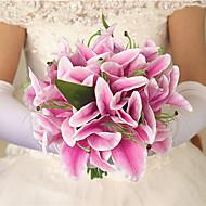 billige Kunstig Blomst-Kunstige blomster 1 Afdeling Moderne Stil / Europæisk Stil Liljer Bordblomst