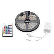 abordables -5m 300x3528 smd rgb imperméable à l'eau et télécommande à 24 touches lampe à bandes