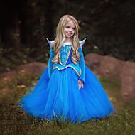 Prinsesse / Cinderella / Eventyr Kjoler Jul / Maskerade Festival / Højtider Halloween Kostumer Blå / Lys pink Farveblok Kjoler / Mesh Yndig