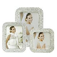 화려한 클래식 반짝 이는 다이아몬드 액자 좋아하는 라인 석 사진 프레임 결혼식 데스크탑 장식 xl023