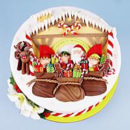 baratos Moldes para Bolos-Ferramentas bakeware silica Gel Férias / Aniversário / Ano Novo para Candy Redonda Moldes de bolos 1pç