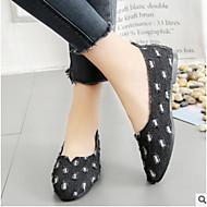 Χαμηλού Κόστους Embroidered Style-Γυναικεία Παπούτσια Ντένιμ Άνοιξη / Καλοκαίρι Ανατομικό Χωρίς Τακούνι Περπάτημα Επίπεδο Τακούνι Κλειστά Δάχτυλα Μαύρο / Σκούρο μπλε / Μπλε