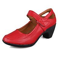 baratos Sapatilhas de Dança-Mulheres Sapatos de Dança Moderna TPU / Courino Salto Salto Cubano Personalizável Sapatos de Dança Vermelho