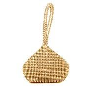 お買い得  クラッチバッグ&イブニングバッグ-女性用 バッグ シルク イブニングバッグ パール装飾 のために イベント/パーティー オールシーズン ゴールド シルバー