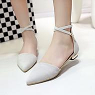 Ženske Cipele PU Ljeto Udobne cipele Sandale Ravna potpetica Krakova Toe za Kauzalni Crn Sive boje