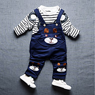 Dječaci Pamuk Prugasti uzorak Crtani film Dnevno Izlasci Sva doba Dugih rukava Komplet odjeće Slatko Ležerne prilike Aktivan Plava
