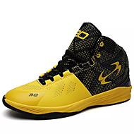 Herren Schuhe PU Frühling Herbst Komfort Slouch Stiefel Sportschuhe Basketball Schnürsenkel für Sportlich Weiß Schwarz Gelb Blau