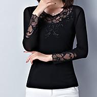 Majica s rukavima Ženske,Slatko Ležerne prilike Dnevno Jednobojni-Dugi rukav Okrugli izrez-Jesen Neprozirno Najlon