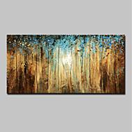 billiga Landskapsmålningar-Hang målad oljemålning HANDMÅLAD - Landskap Enkel / Moderna Inkludera innerram / Sträckt kanfas