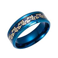 povoljno Modno prstenje-Muškarci Žene Band Ring Crn Dark Blue Tikovina Moda Dnevno Nakit odjeće