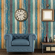 cheap Wallpaper-Wood Grain Home Decoration Classical Wall Covering, PVC Material Self adhesive Wallpaper, Room Wallcovering