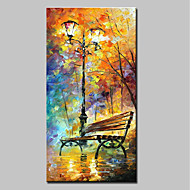 cheap Oil Paintings-Hand-Painted Landscape Vertical,Modern One Panel Canvas Oil Painting For Home Decoration