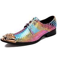 Χαμηλού Κόστους Αντρικά Oxford-Ανδρικά Τα επίσημα παπούτσια Νάπα Leather Άνοιξη / Φθινόπωρο Ανατομικό Oxfords Χρυσό / Πάρτι & Βραδινή Έξοδος