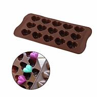 billige Bakeredskap-3d hjerte form kake mold non stick silikon sjokolade mold 15 hulrom kjærlighet hjerte verktøyet