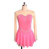 Haljina za klizanje Žene Djevojčice Korcsolyázás Haljine Pink Neelastičan Seksi blagdanski kostimi Vježba Odjeća za klizanje Jednobojni
