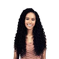"""halpa -rastatukka 1pack Hiusletit Kihara 18"""" Afrikkalaiset letit 100% kanekalon hiukset Musta Letitetty Hiuspidennykset"""