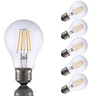 tanie Więcej Kupujesz, Więcej Oszczędzasz-GMY® 6szt 4W 350 lm E26 Żarówka dekoracyjna LED A60(A19) 4 Diody lED COB Przysłonięcia LED Light Ciepła biel AC 110-130V