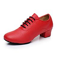 "billige Moderne sko-Dame Moderne Kunstlær Joggesko Trening Trimmer Lav hæl Svart Rød 1 ""- 1 3/4"" Kan spesialtilpasses"