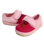 baratos Sapatos de Menina-Para Meninas Sapatos Lã Primavera / Inverno Conforto / Primeiros Passos Rasos Apliques / Combinação / Velcro para Pêssego