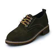 povoljno -Ženske Cipele Kašmir Zima Udobne cipele Ravne cipele Krakova Toe Mašnica za Kauzalni Crn Vojska Green Crvena
