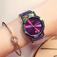billige Quartz-Dame Quartz Armbåndsur Japansk Kalender / Kronograf / Vandafvisende / Afslappet Ur Rustfrit stål Bånd Luksus / Farverig / Elegant / Mode