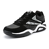 Men's Shoes PU Spring Fall Comfort Sneakers Lace-up for Casual Black/White Black/Blue