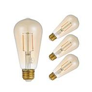 abordables -GMY® 4pcs 2W 180 lm E27 Ampoules à Filament LED ST58 2 diodes électroluminescentes COB Edison Ampoule Décorative Lampe LED Blanc Chaud AC