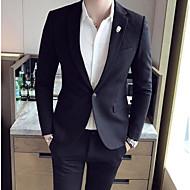 Pánské Jednobarevné Práce Běžné/Denní Jednoduchý Blejzr-Zima Podzim Polyester Košilový límec Dlouhé rukávy Standardní Velkoformátové